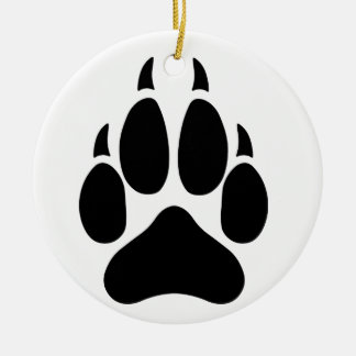 Wolf Paw Christmas Ornament
