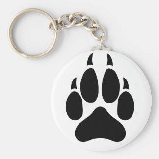 Wolf Paw Key Ring