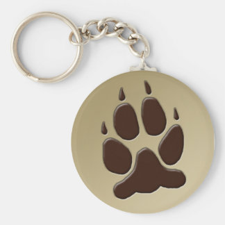 Wolf Paw Print Key Chains