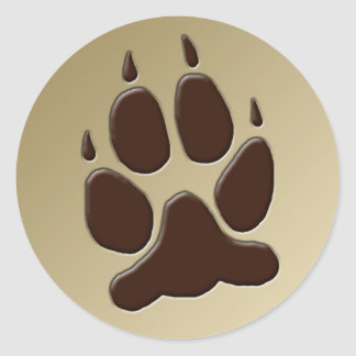 Wolf Paw Print sticker