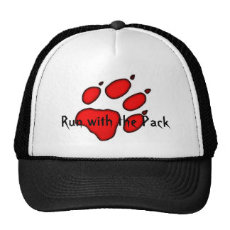 wolf paw, Run with the Pack Cap