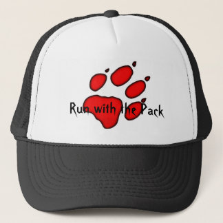 wolf paw, Run with the Pack Trucker Hat