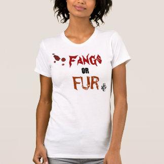wolf paw, splatter, Fangs, or, FUR Tee Shirt