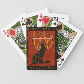 Wolf Pentagram Card Decks