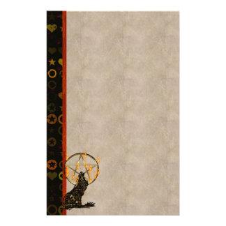 Wolf Pentagram Stationery Design