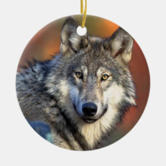 Wolf Photograph Christmas Ornament