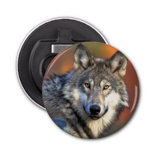 Wolf Photograph Image Bottle Opener