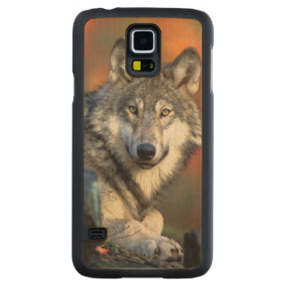 Wolf Photograph Image Maple Galaxy S5 Case