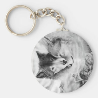wolf pic 3-2 keychains