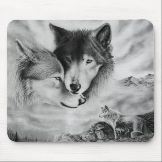 wolf pic 3 mouse mat
