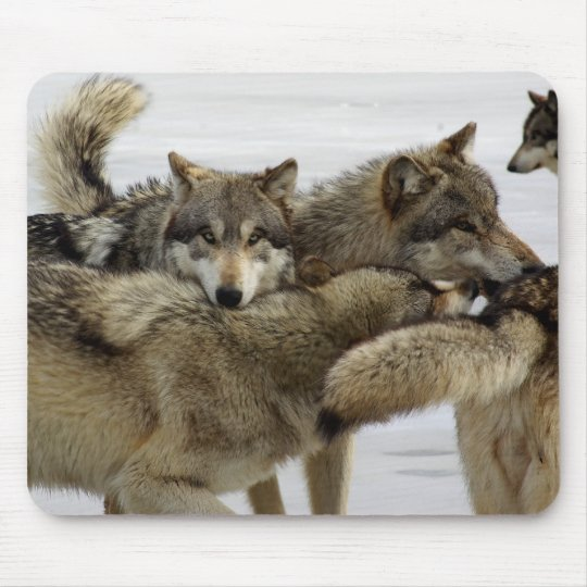 Wolf Pile Mouse Pad