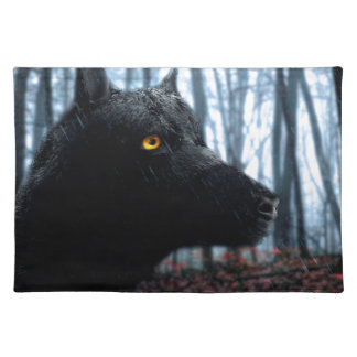 wolf placemat