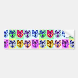 Wolf Pop Art Bumper Sticker