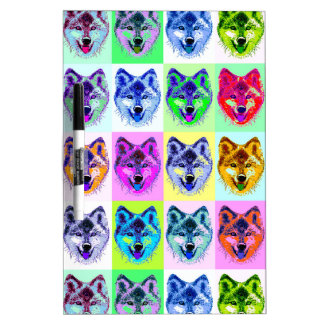 Wolf Pop Art Dry Erase Board