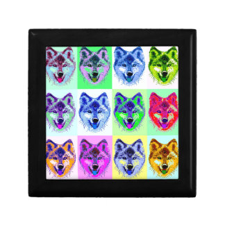 Wolf Pop Art Gift Box