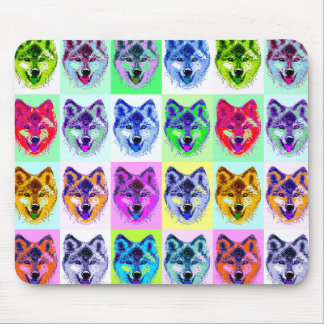 Wolf Pop Art Mouse Pad