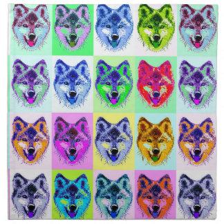 Wolf Pop Art Napkin