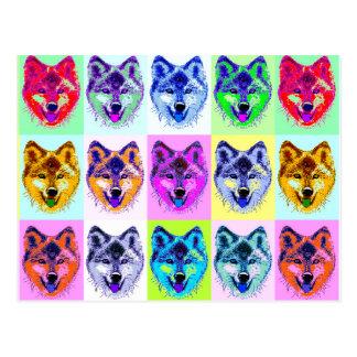 Wolf Pop Art Postcard