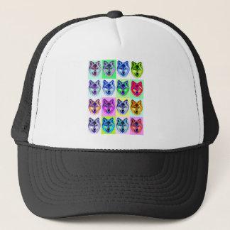 Wolf Pop Art Trucker Hat
