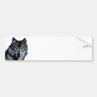 Wolf Portrait Bumper Sticker