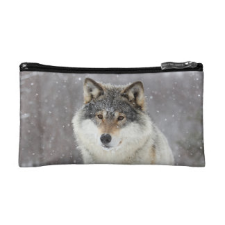 Wolf portrait cosmetic bag