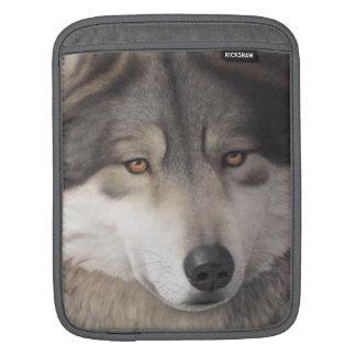 Wolf portrait iPad sleeve