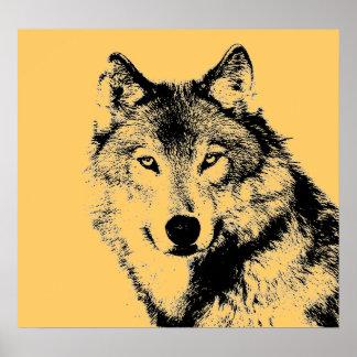 Wolf Portrait Poster