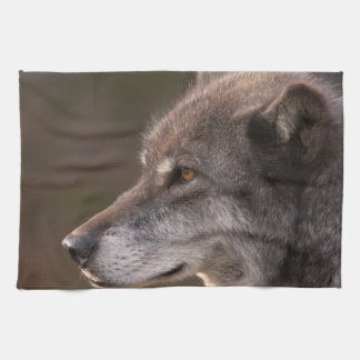 Wolf Profile Tea Towel
