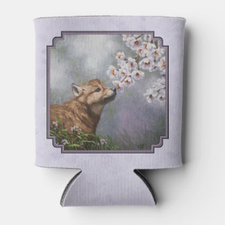 Wolf Pup and Flowers Lavender