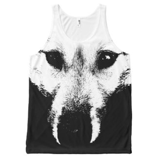 Wolf Pup Shirts Wolf Pup Dog Tank Top Shirts All-Over Print Tank Top