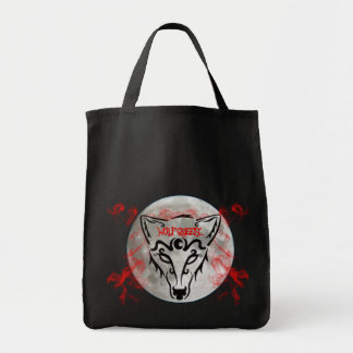 Wolf Queen Grocery Tote