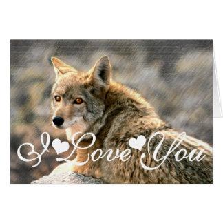 Wolf Rain Graphic Art Image I Love You Greeting Card