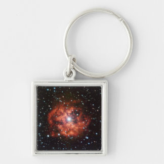 Wolf-Rayet star Silver-Colored Square Key Ring