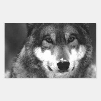 Wolf Rectangular Sticker