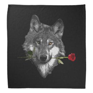Wolf Rose Bandana