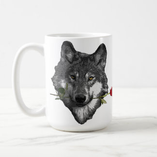 Wolf Rose Coffee Mug