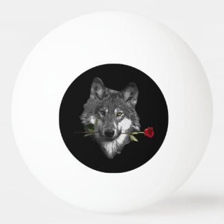 Wolf Rose Ping Pong Ball