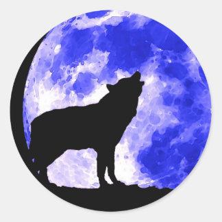 Wolf Round Sticker