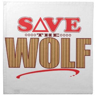 Wolf Save Napkin