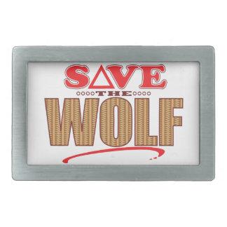 Wolf Save Rectangular Belt Buckles