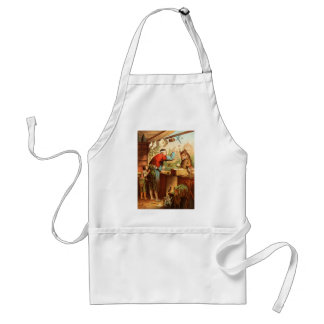 Wolf & Seven Young Kid Goats Fairy Tale Apron