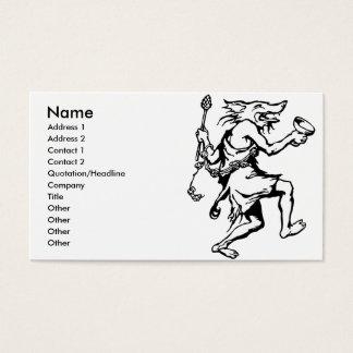 Wolf Shaman Business Card