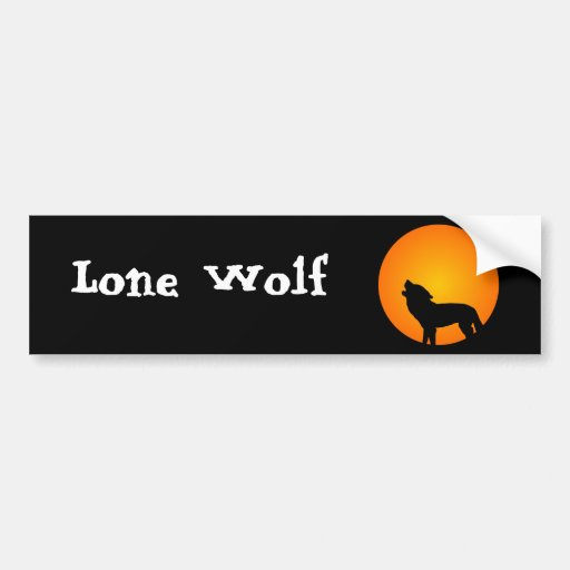 Wolf Silhouette Bumper Stickers