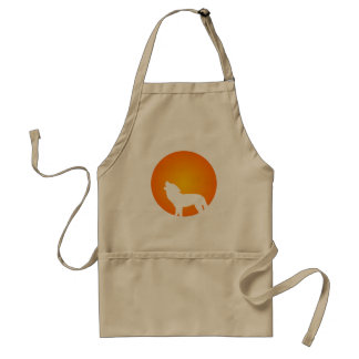 Wolf Silhouette Standard Apron