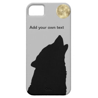 Wolf Sillhoutte with Full Moon iPhone 5 case
