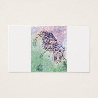 Wolf skeleton watercolour purple/green