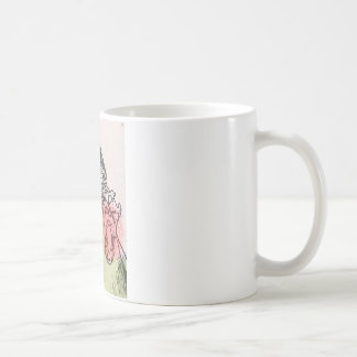 Wolf skeleton watercolour red/green nature coffee mug