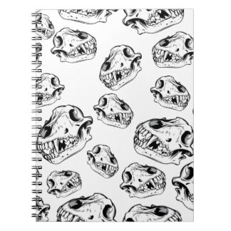 Wolf skulls notebooks