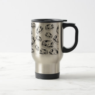 Wolf skulls travel mug