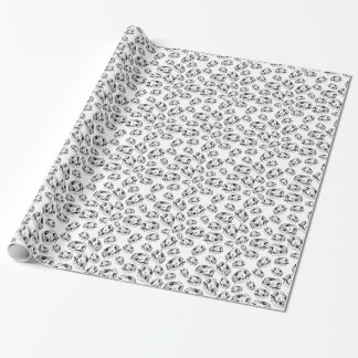 Wolf skulls wrapping paper